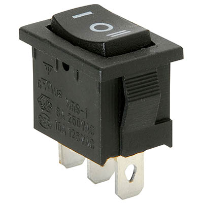 SPDT centre off rectangular rocker switch