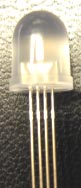 Diffuse 4 pin 10mm RGB LED - common anode