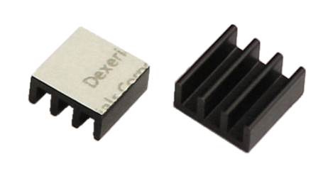 11 x 11 x 5mm tiny heatsinks for LEDs and ICs - pretaped