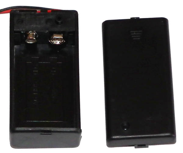 1 x 9V battery case with switch