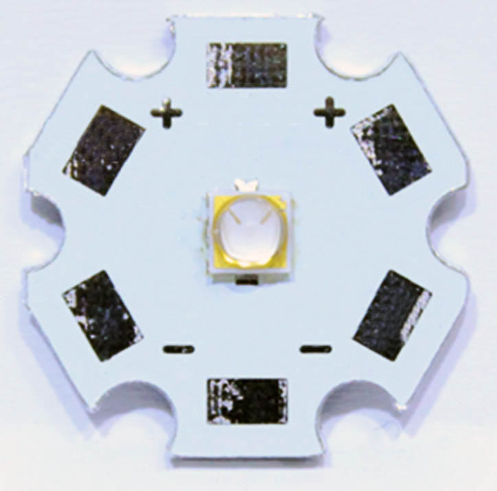 3W XP-E style 385nm UV LED on 16mm star PCB
