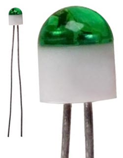 Lumex green 2mm LED