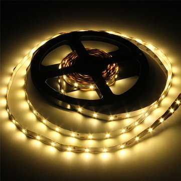 12V, 3528 warm white flexible strip - 60 LEDs per metre