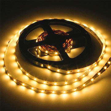 12V, 3528 yellow flexible strip - 60 LEDs per metre