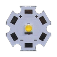3W 3535 style cool white LED on 20mm star PCB