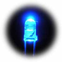 3mm superbright blue LEDs - bag of 1000