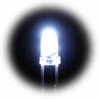 3mm superbright white LEDs - bag of 1000