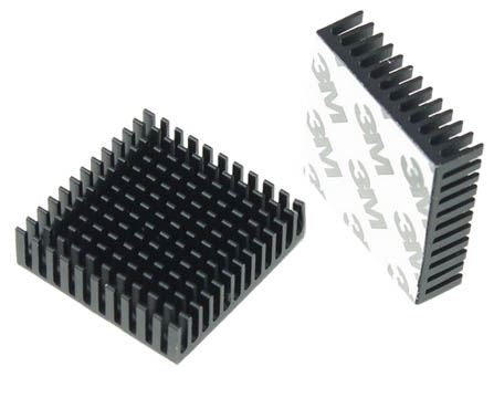 40mm square heatsink with thermal tape