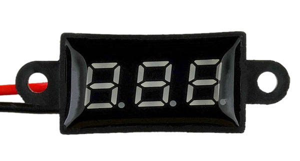 "Waterproof 0.28"" 3 digit red DC panel meter"