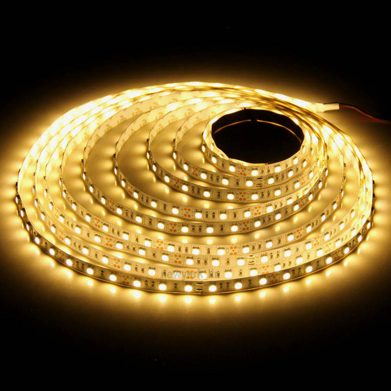 Warm white 24 volt 5050 LED ribbon - waterproof