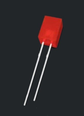 5 x 5 x 7mm red diffuse LED