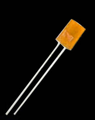 5mm orange tinted diffuse flat top LED