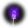 5mm superbright purple LEDs - bag of 1000 with long leads