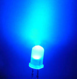 5mm superbright tinted diffuse blue LED