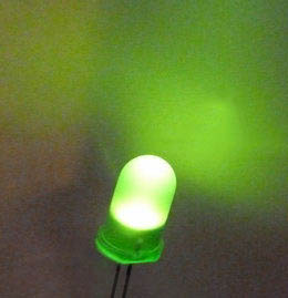 5mm superbright green diffuse LEDs - bag of 1000