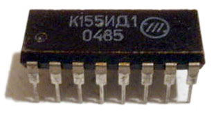74141 nixie driver IC
