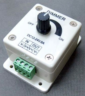 12-24V, 1 channel 8 amp manual dimmer
