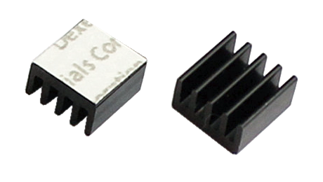 8.8 x 8.8 x 5mm tiny heatsinks for LEDs and ICs - pretaped