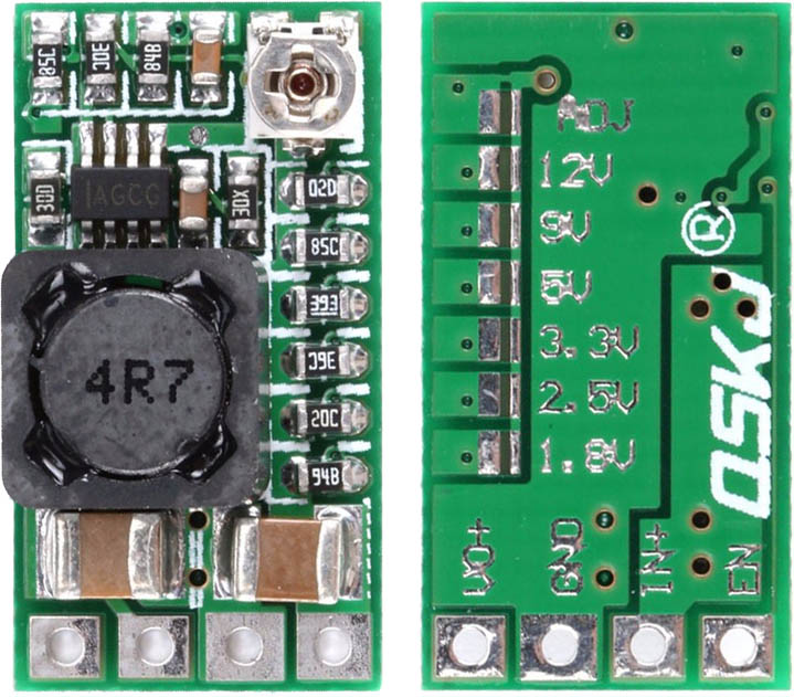 Mini DC-DC buck converter with fixed or variable output