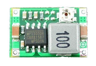 Adjustable micro DC-DC step-down converter with ceramic caps