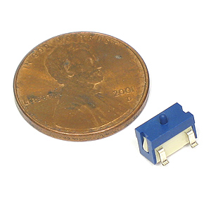 Absolutely tiny SMD pushbutton switch