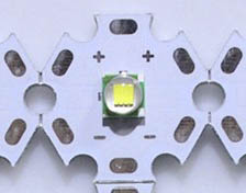 8W 5050 style neutral white LED - 20mm star