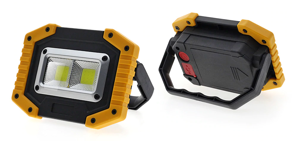 Battery powered rechargeable portable utility light