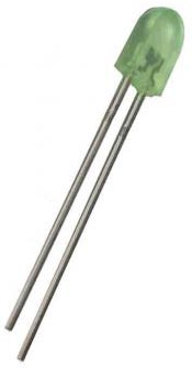 Green 5mm x 2.5mm rectangular LED with dome end