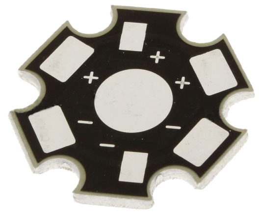 Star PCB for generic power LEDs