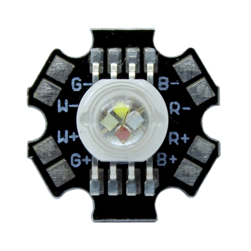 8W RGBW LED on 20mm star PCB