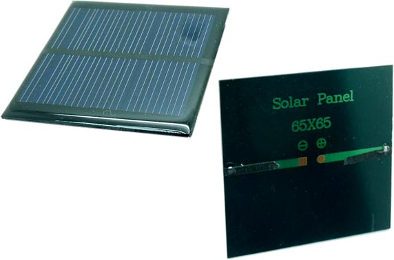 65mm square encapsulated solar panel