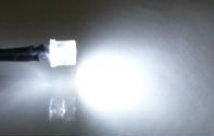 Wide angle 5mm cool white LED prewired for 12 volt use